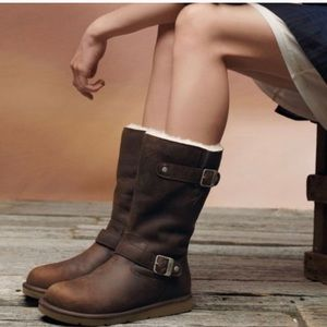 Ugg Kensington Buckle Distressed Leather Boot